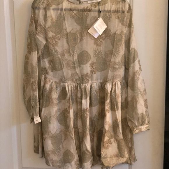 cafcd2afa09 NWT Anine Bing linen cotton babydoll dress XS